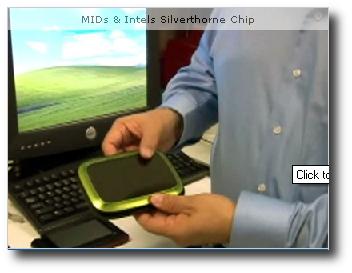 Intel Silverthorne - Video di Prototipi di Mobile Internet Device
