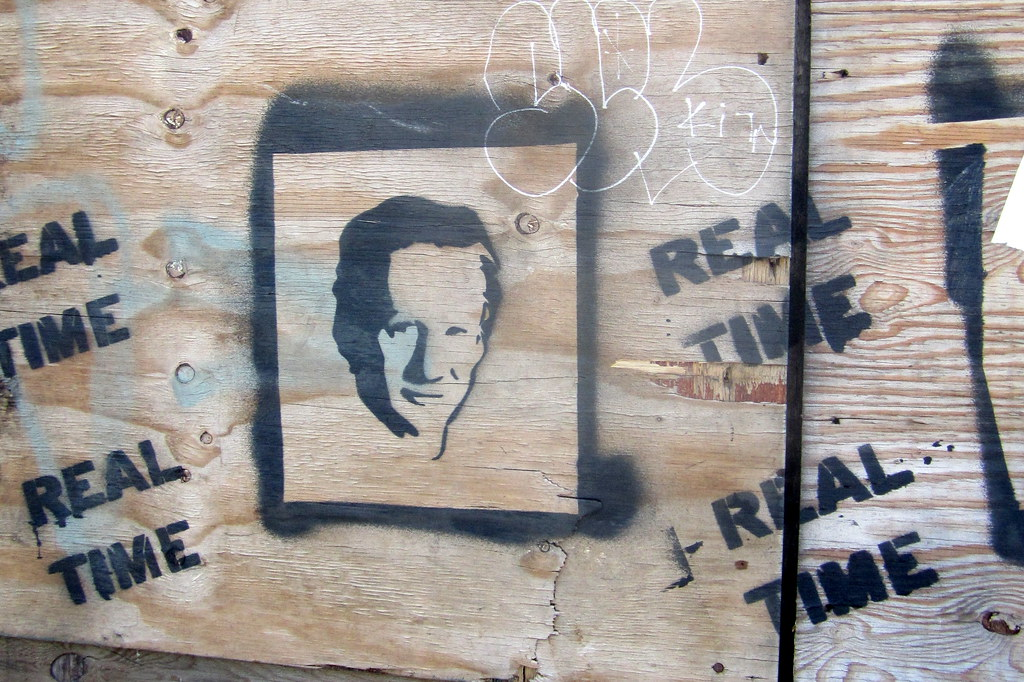 graffiti of Bill Maher and Real Time