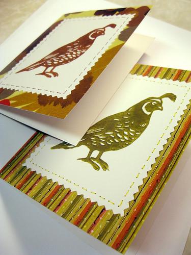 New quail notecards.