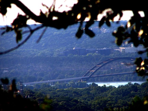 Loop 360 Bridge from Mount Bonnell