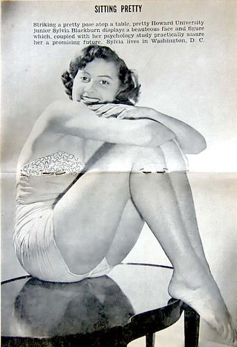 Howard University Junior Sylvia Blackburn is Sitting Pretty - Jet Magazine October 13, 1955 by vieilles_annonces.