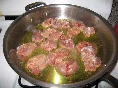 sauteeing chicken liver