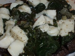Mushroom, Spinach and Cheese