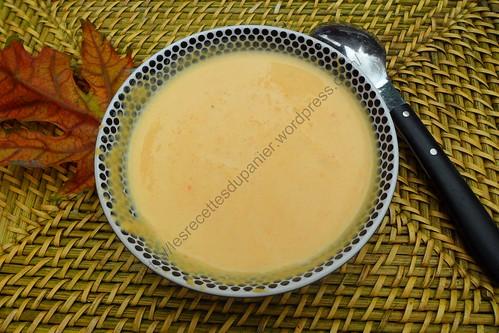 Crème de carottes à l'érable / Carrot cream soup with mapple syrup