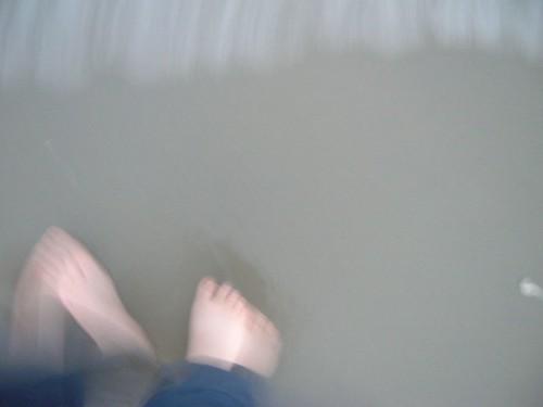 Ocean meets my feet