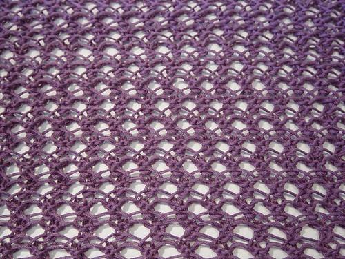 Waves of Lace Shawl close up