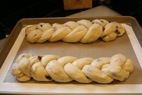 Pulla, now braided and ready for its 2nd rising