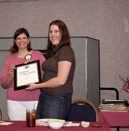 me receiving award