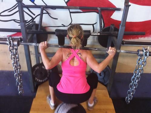 chain squat 85