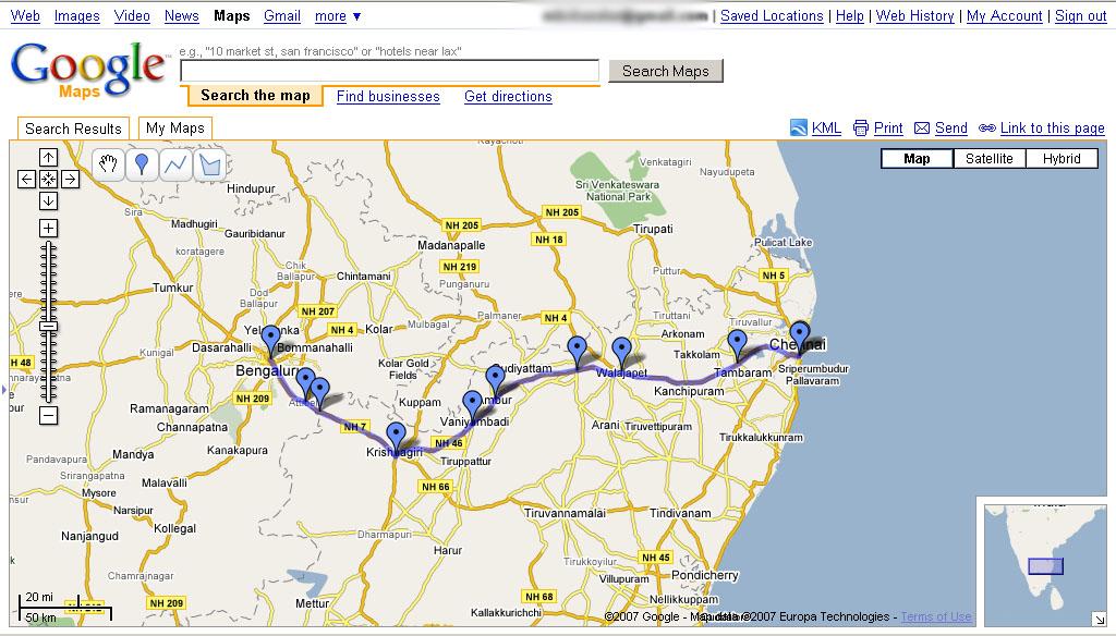 Bangalore to Chennai