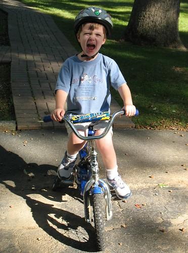 He got a bike
