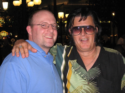 Mike with Elvis wannabe