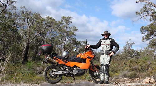 KTM and me in the bush