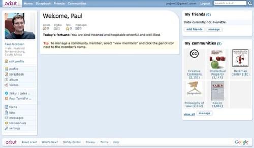Orkut screenshot
