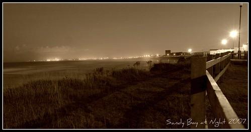 Sandy Bay at Night Sepia