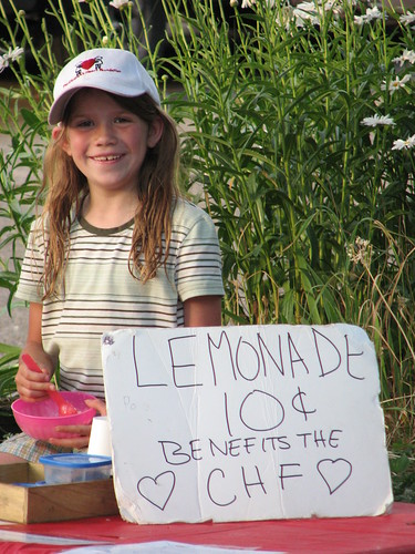 Liz Selling Lemonade