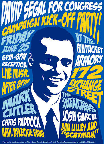 'Mericans Friday 25 June 2010 David Segal Benefit Concert Poster