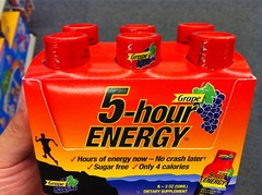 Mis espinacas: 5-hour energy shots.