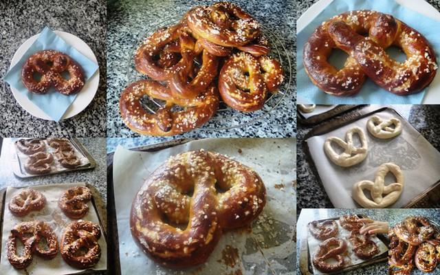 Homemade Pretzels collage