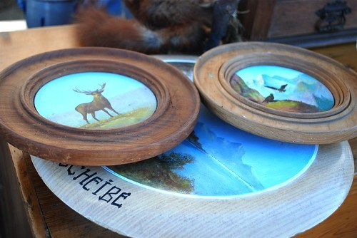 antique German hand painted targets