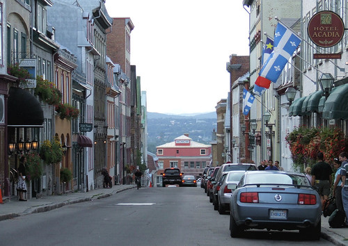 street, Quebec city