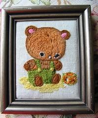 crewel teddy