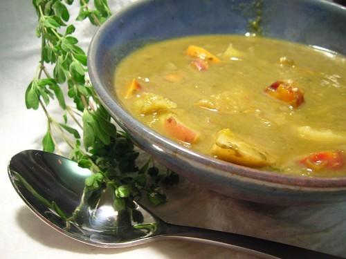 Sorrel Carrot Potato Soup