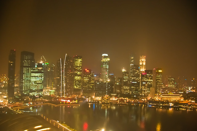 Singapore at night from our hotel room