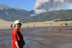Forest fire near Great Sand Dunes National Park