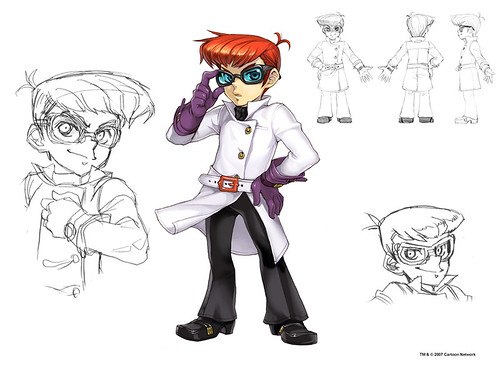 Dexter from the FusionFall universe. Note the character detail.