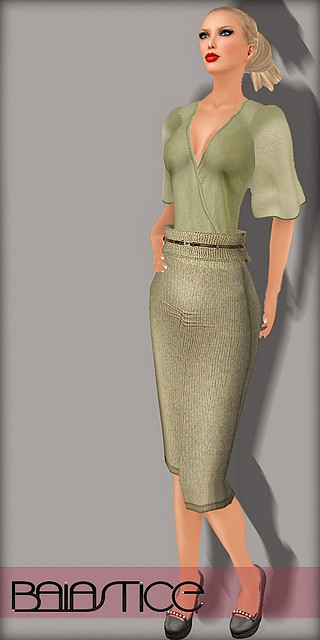 Baiastice Laila Cotton Shirt - Wool Pencil Skirt