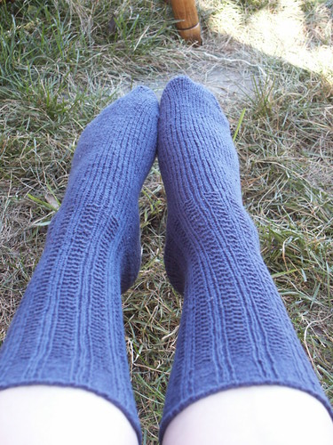 Blue Squooshy Socks