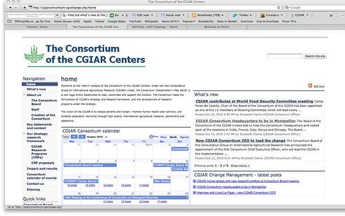 Consortium of CGIAR Centers website