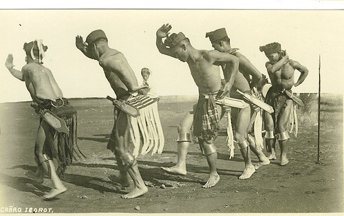 Igorot men dance at a cañao canao dancing Philippine Buhay Pinoy Noon old pictures photograph black and white Philippines  Filipino Pilipino  people photos life Philippinen dancing traditional tradition festivities
