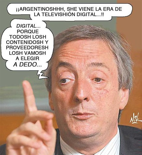 Kirchner y la TV Digital argentina