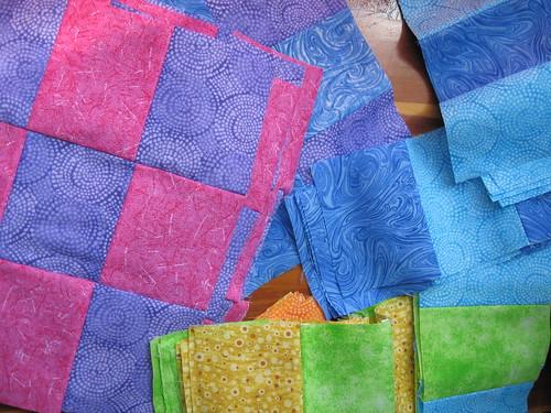 rainbow quilt - squares