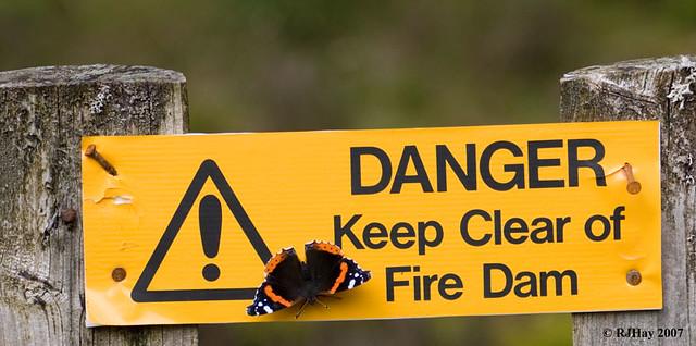 Fire Dam Sign