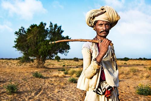 Rabari tribesman in modern Gujarat