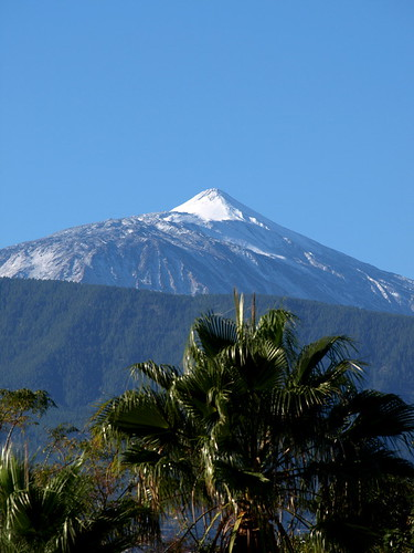 Mount Teide on Christmas Day - A White Christmas with Blue Skies in the north