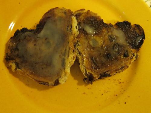 Cinnamon Raisin Heart Toast with Honey