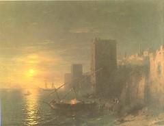 Aivazovsky, Constantinovic  - A lunar night in Constantinople  - 1862