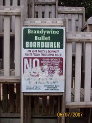 Brandywine Bullet Boardwalk sign