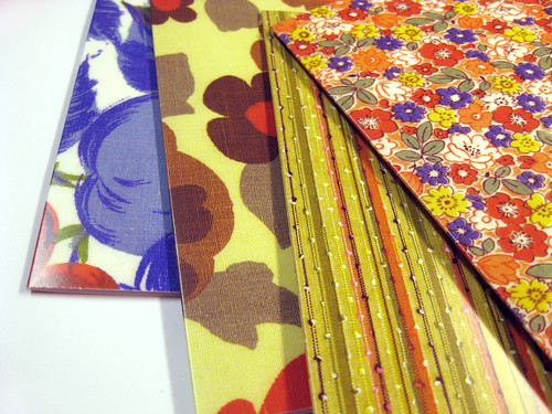 New card backs (from my vintage fabric stash).
