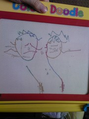 Rowan's drawing of a Lady and a Man!