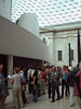 The Great Court at the British Museum with the queue for The First Emperor exhibition
