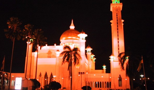 Istana Nurul Iman At Night