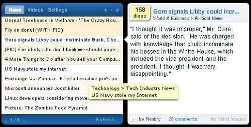 DiggTop: News Screenshot