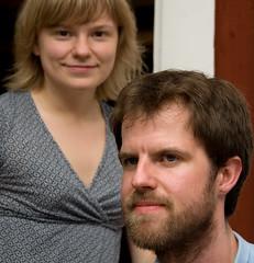 Helena och Jonas kvällen innan