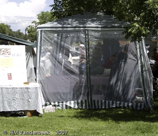 A Massage Tent