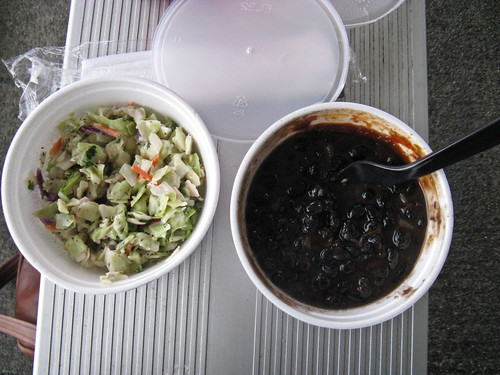 coleslaw and beans